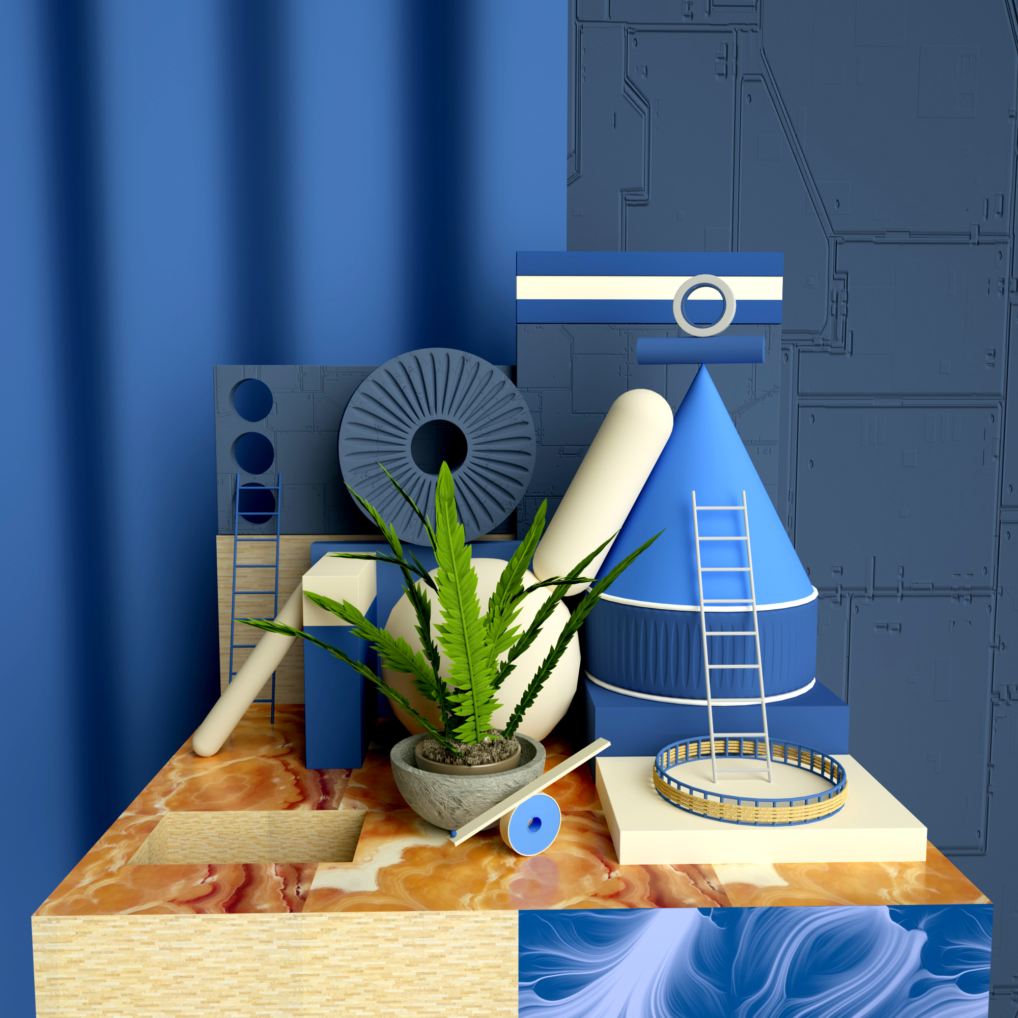C4D模型蓝色城市建筑绿色植物几何工程033.jpg