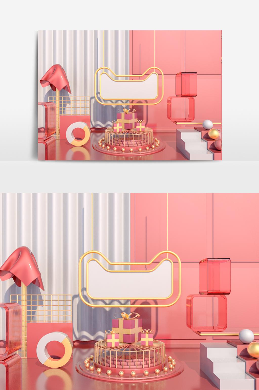 C4D模型天猫电商促销展台礼物装饰039.jpg